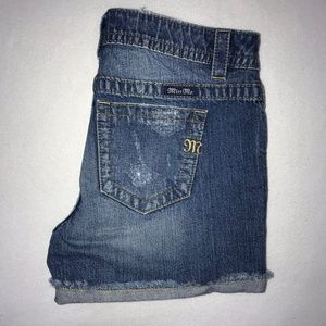 Miss Me Ripped Frayed Boyfriend Jean Shorts 27